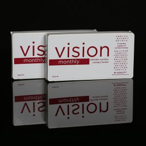 Vision monthly ultimate comfort contact lenses by Dynamic Vision packaging