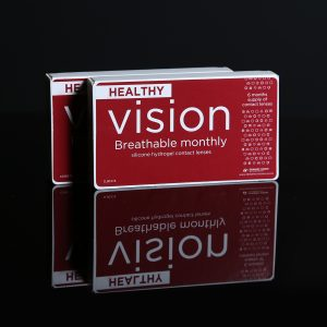 Healthy vision breathable monthly silicone hydrogel contact lenses by Dynamic Vision packaging