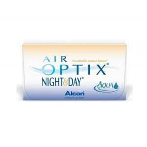 Air Optix Night and Day Contact lenses packaging