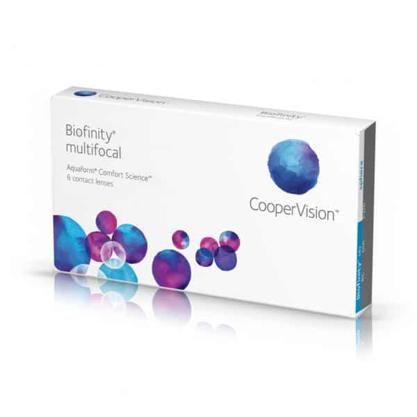 Biofinity multifocal Aquaform comfort Science 6 contact lenses Cooper Vision packaging